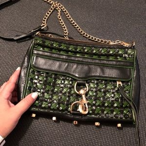 Rebecca Minkoff Green and Black Crossbody bag